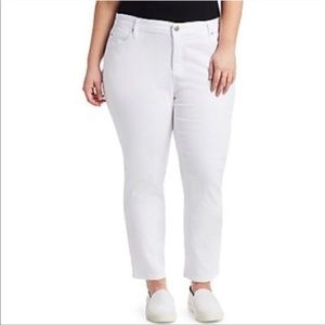 Eileen Fisher Ankle Cropped Jeans White